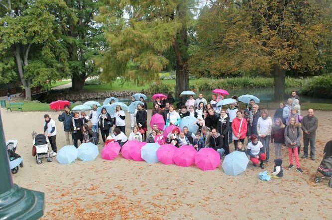 Marche Blanche 2015, parapluies